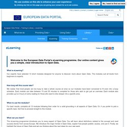 eLearning - European Data Portal