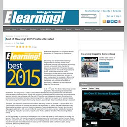 Best of Elearning! 2015 Finalists Revealed