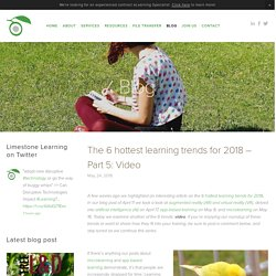 The 6 hottest learning trends for 2018 – Part 5: Video — eLearning, instructor-led training, blended learning - Limestone Learning