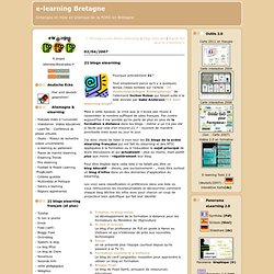 21 blogs elearning : e-learning Bretagne
