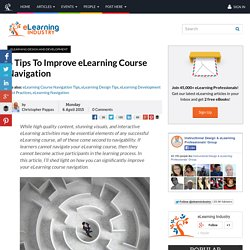 6 Tips To Improve eLearning Course Navigation