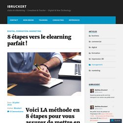 8 étapes vers le elearning parfait ! – iBruckert