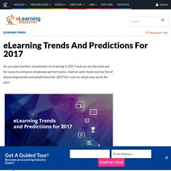 eLearning Trends And Predictions For 2017 - eLearning Industry