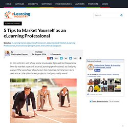 5 Tips to Market Yourself as an eLearning Professional
