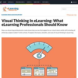 Visual Thinking In eLearning: What eLearning Professionals Should Know