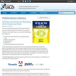 Guild eBooks: 162 Tips and Tricks for Working with e-Learning Tools