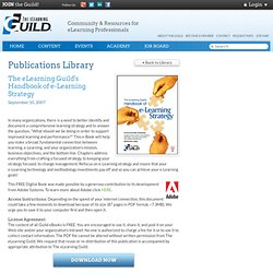 ebook - Handbook of e-Learning Strategy