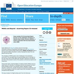 MOOCs and Beyond - eLearning Papers 33 released