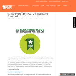 20 eLearning Blogs You Simply Have to Bookmark
