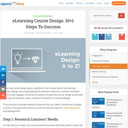 eLearning Course Design: 10+1 Steps To Success – TalentLMS Blog
