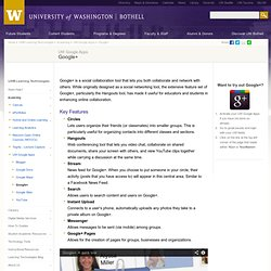 Google Plus - UW Google Apps - eLearning - UWB Learning Technologies - UW Bothell
