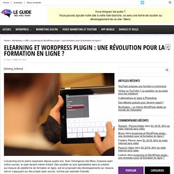 eLearning Wordpress Plugin : que choisir comme LMS ?