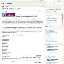 elearningtoolkit [licensed for non-commercial use only] / Home: eLearning Toolkit