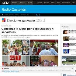 ELECCIONES 26J: Comienza la lucha por 5 diputados y 4 senadores (Castellón)
