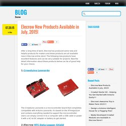 Elecrow New Products Available in July, 2015!