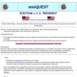 Electing a U.S. President