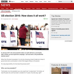 US election 2016: How does it all work?