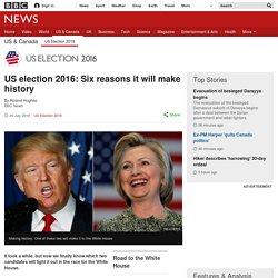 US election 2016: Six reasons it will make history