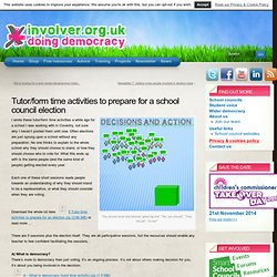 School council election tutor/form time activities