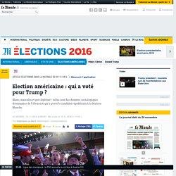 Election américaine: qui a voté pour Trump?