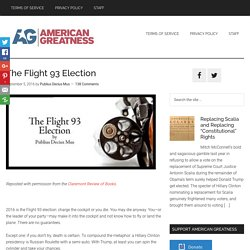 The Flight 93 Election - American Greatness