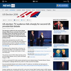 US election: TV audience falls sharply for second US presidential debate - US election 2016