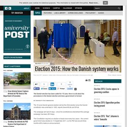 Election 2015: How the Danish system works