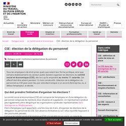 CSE : élection de la délégation du personnel