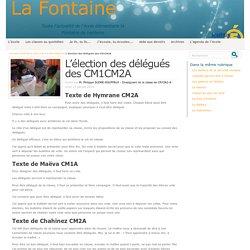 L'élection des délégués des CM1CM2A - La Fontaine