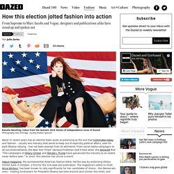 How this election jolted fashion into action