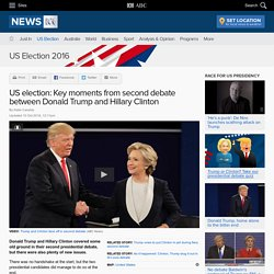 US election: Key moments from second debate between Donald Trump and Hillary Clinton - US election 2016