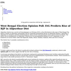 West Bengal Election Opinion Poll: EtG Predicts Rise of BJP in Alipurduar Dist
