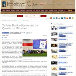 Tunisia's Election Results and the Question of Minorities