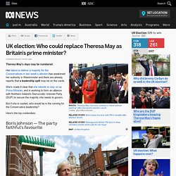 UK election: Who could replace Theresa May as Britain's prime minister?