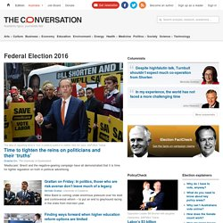 Election 2016 – The Conversation - Views & Research