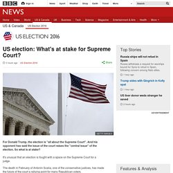 US election: What's at stake for Supreme Court?