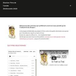 Election Ziklibrenbib – Titre de l'année 2020