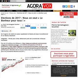 Elections de 2017 : Nous on veut « Le Bonheur pour tous ! »