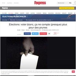 Elections: voter blanc, ça ne compte (presque) plus pour des prunes