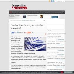 Les élections de 2017 seront-elles annulées ?