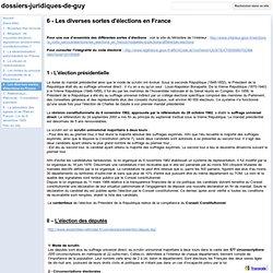 6 - Les diverses sortes d'élections en France - dossiers-juridiques-de-guy
