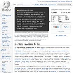 Élections en Afrique du Sud