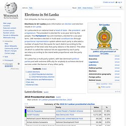 Elections in Sri Lanka