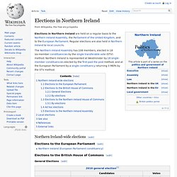Elections in Northern Ireland