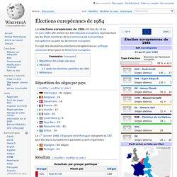 Élections européennes de 1984