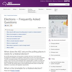 2016 Federal Election – AEC - FAQ