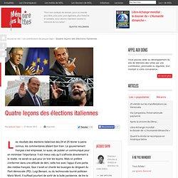 Quatre leçons des élections italiennes