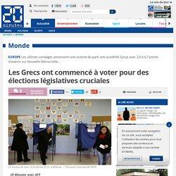 Les Grecs ont commencé à voter pour des élections législatives cruciales