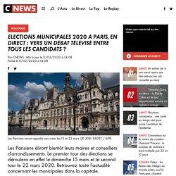 Elections Municipales 2020 à Paris, en direct : vers un débat télévisé entre tous les candidats ?