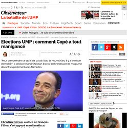 Présidence de l'UMP : comment Copé a tout manigancé